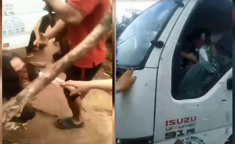 Cố tình cán qua người phụ nữ, tài xế xe tải khiến cộng đồng mạng phẫn nộ - Ảnh 2