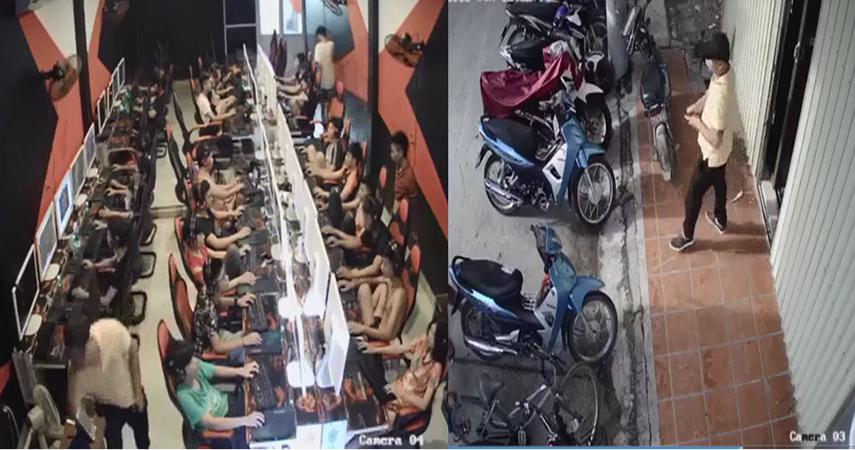 Nam thanh niên trộm điện thoại cực nhanh trong quán net - Ảnh 1