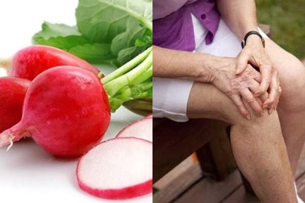 Giảm đau nhức xương khớp hiệu quả bằng củ cải đường