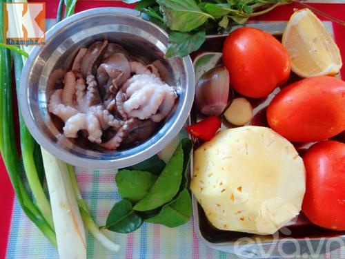 Canh bạch tuộc nấu chua hấp dẫn cuối tuần - Ảnh 1