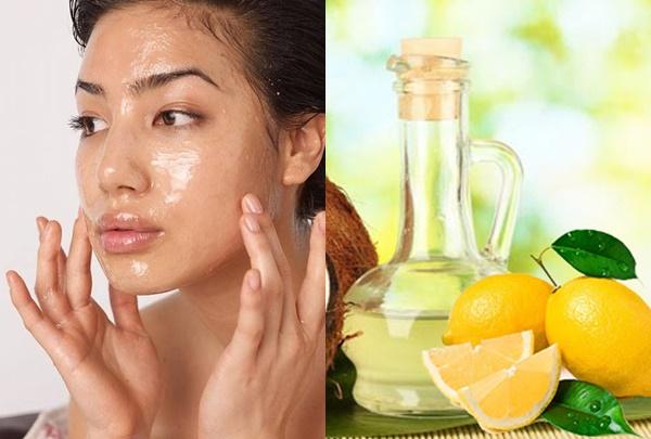 Làm trắng da mặt với dầu dừa và nước cốt chanh hiệu quả