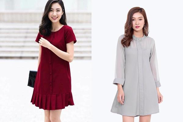 Thời trang công sở 2018 với đầm suông đơn giản