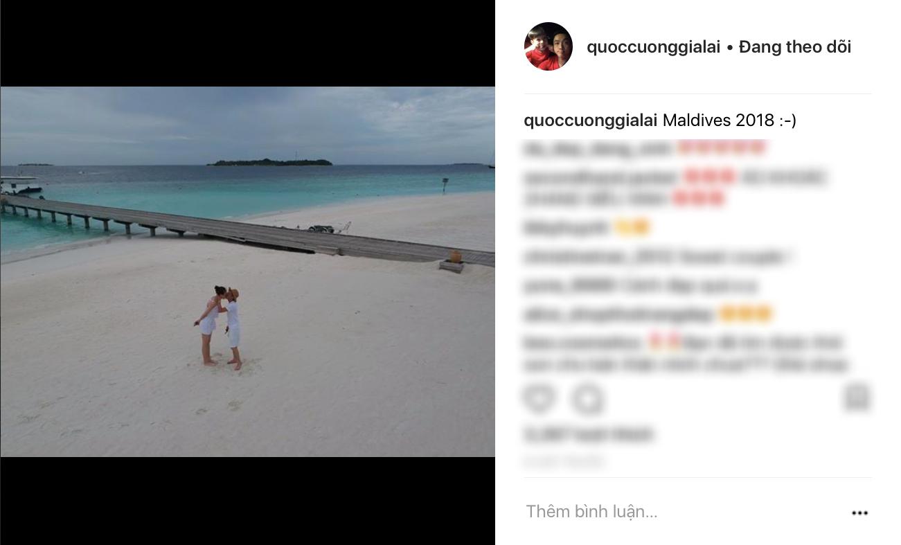 Rò rỉ ảnh cưới của Cường Đô La và Đàm Thu Trang tại Maldives? - Ảnh 1