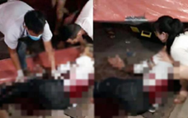 Giây phút nam thanh niên ngồi cùng bạn gái bị 2 đối tượng bịt mặt dùng dao và kiếm truy sát - Ảnh 2