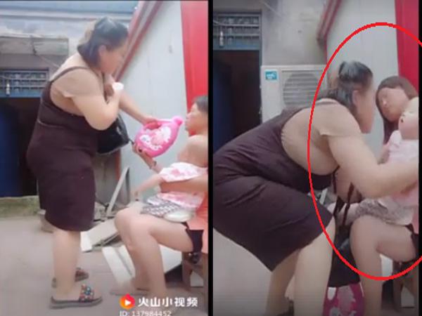 Xôn xao clip người phụ nữ bắt cóc em bé ngay trên tay mẹ - Ảnh 2