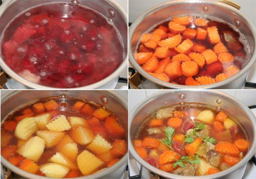 Soup bắp bò hầm rau củ - Ảnh 2