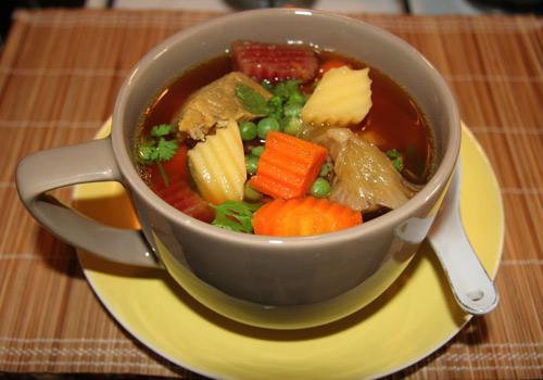 Soup bắp bò hầm rau củ - Ảnh 3