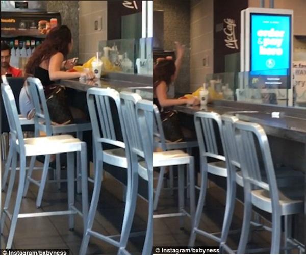 Nữ nhân viên McDonald đánh khách hàng không thương tiếc - Ảnh 1