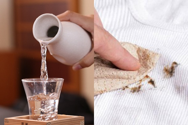 Tẩy bỏ vết son môi bị dính vào áo đơn giản với rượu