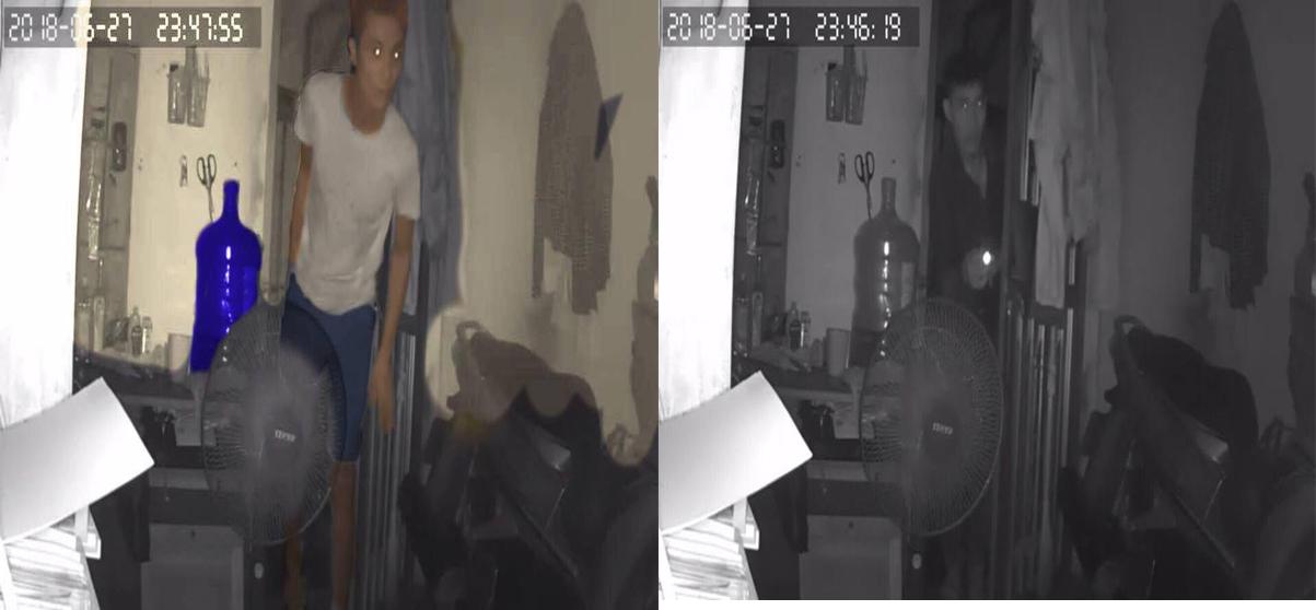 Hai nam thanh niên cạy cửa vào phòng trọ trộm tài sản lúc nửa đêm - Ảnh 1