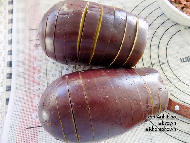 Cà tím nhồi thịt sốt dầu hào đơn giản lại trôi cơm - Ảnh 2