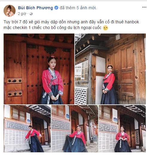 Chẳng ai có thể 'lầy lội' diễn tả 'mặc hanbok gió luồn từng ngóc ngách' như Bích Phương! - Ảnh 1