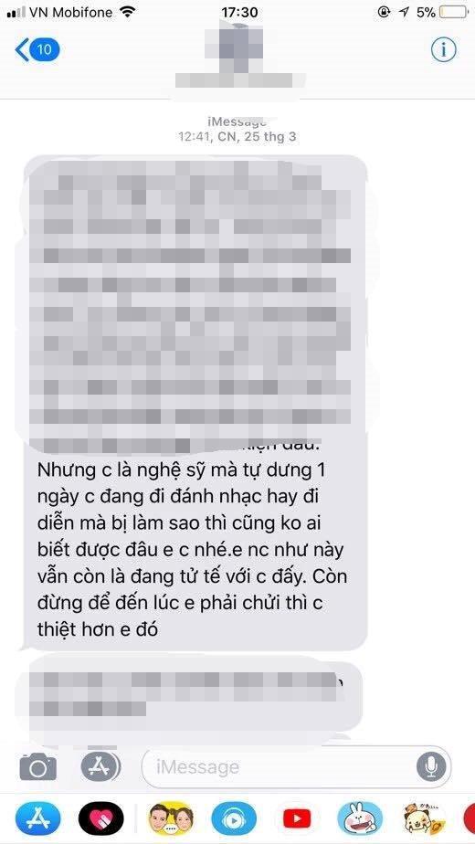 Võ Hoàng Yến: 'Tôi lưu tin nhắn và ghi âm cuộc gọi hăm dọa' - Ảnh 2