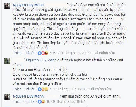 Bức xúc việc MC Phan Anh nói Đức Phúc phẫu thuật thẩm mỹ là 'do giáo dục sai lầm': Duy Mạnh lên tiếng, chửi thói đạo đức giả - Ảnh 2