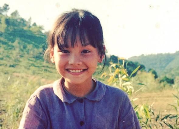 Bảo Thanh khi 8 tuổi