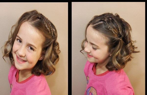 Kiểu tết tóc xoăn sẽ mang lại sự tươi mới bắt mắt cho bé hơn
