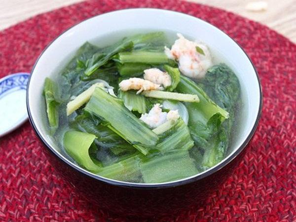Canh cải bó xôi nấu tôm - món ngon mỗi ngày tốt cho người mắc bệnh tuyến giáp - Ảnh 3