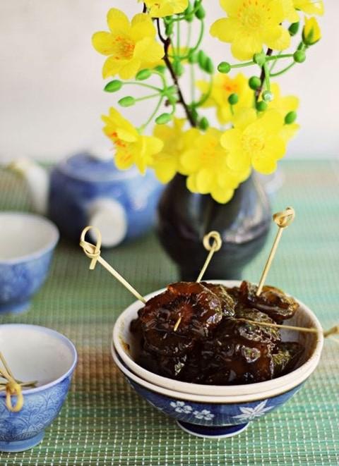 Mứt kiwi chua chua, ngòn ngọt thích hợp khi nhâm nhi với trà nóng