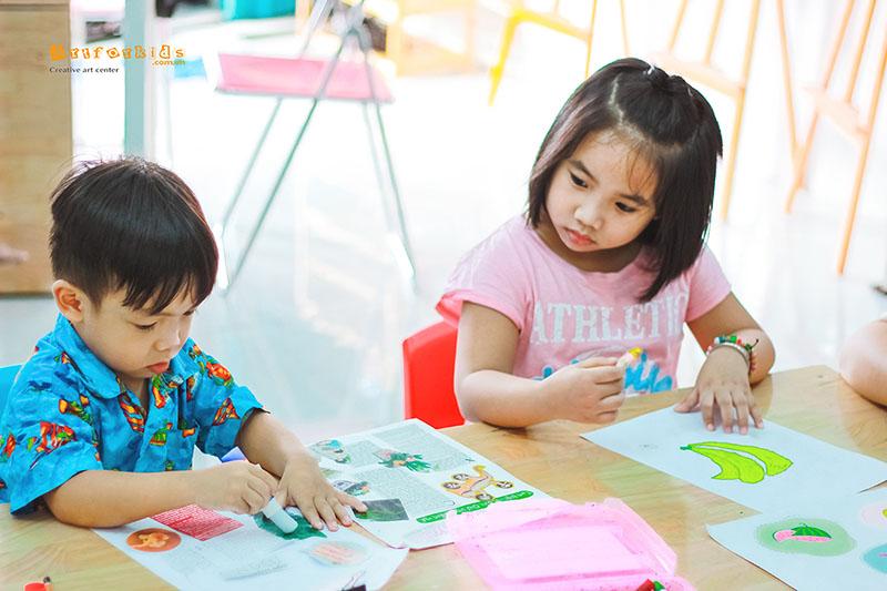 Hãy để trẻ phát huy trí tưởng tượng qua những nét vẽ