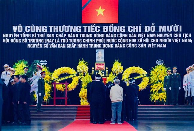 Tang lễ nguyên Tổng bí thư Đỗ Mười tổ chức theo nghi thức Quốc tang - Ảnh 8