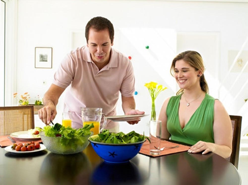 Ăn uống lành mạnh giúp tăng khả năng thụ thai