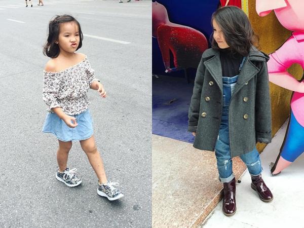 Con cái nhà sao Việt: Ăn mặc cực 'chất' không thua gì người lớn - Ảnh 3