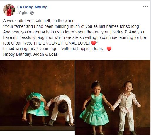 Hồng Nhung đón sinh nhật cùng hai thiên thần nhỏ sau khi chồng lấy vợ mới - Ảnh 1