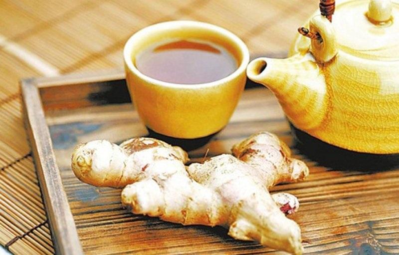 Giảm béo bụng sau sinh mổ bằng trà gừng