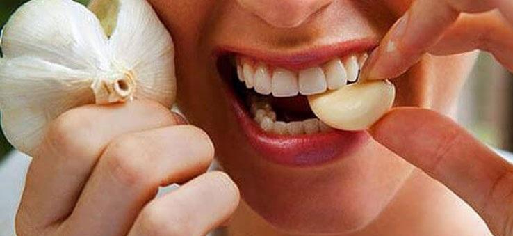 Nhai và ngậm tỏi cũng giúp giảm đau do bị áp-xe răng tại nhà đơn giản