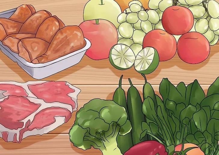 Ăn nhiều rau xanh, hoa quả tươi để giảm mỡ bụng dưới nhanh chóng