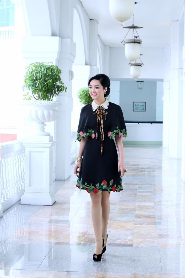 Hoa hậu Đền Hùng Giáng My trẻ trung xinh đẹp ở tuổi U50