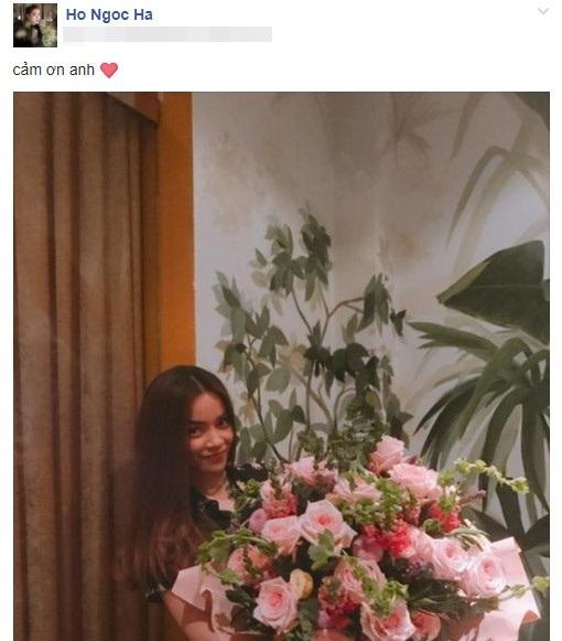 Giữa nghi vấn tình cảm với Kim Lý, Hồ Ngọc Hà bất ngờ được 'trai lạ' tặng hoa - Ảnh 1