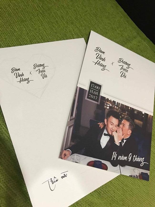 Gửi thiệp mời đặc biệt, Đàm Vĩnh Hưng và Dương Triệu Vũ bị đặt nghi vấn sẽ tổ chức đám cưới vào 15/5