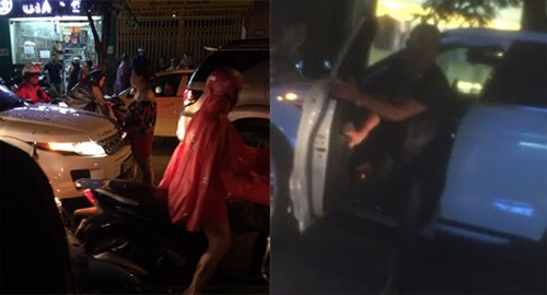 Hà Nội: Vợ ôm con chặn cửa xe ô tô đánh ghen, bồ nhí quáng quàng tháo chạy - Ảnh 2