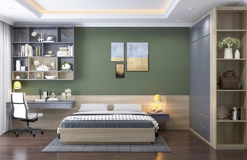 Trang trí phòng khách màu xanh căng tràn sức sống - Ảnh 2