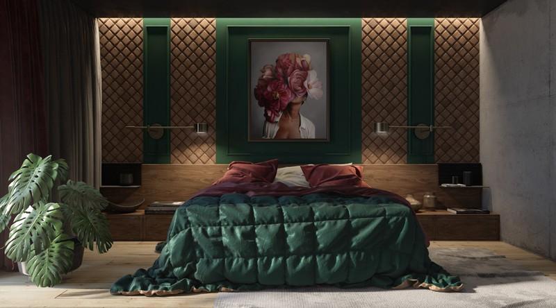 Trang trí phòng khách màu xanh căng tràn sức sống - Ảnh 11