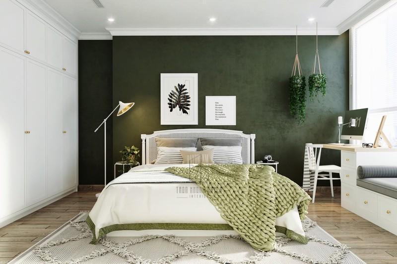 Trang trí phòng khách màu xanh căng tràn sức sống - Ảnh 12