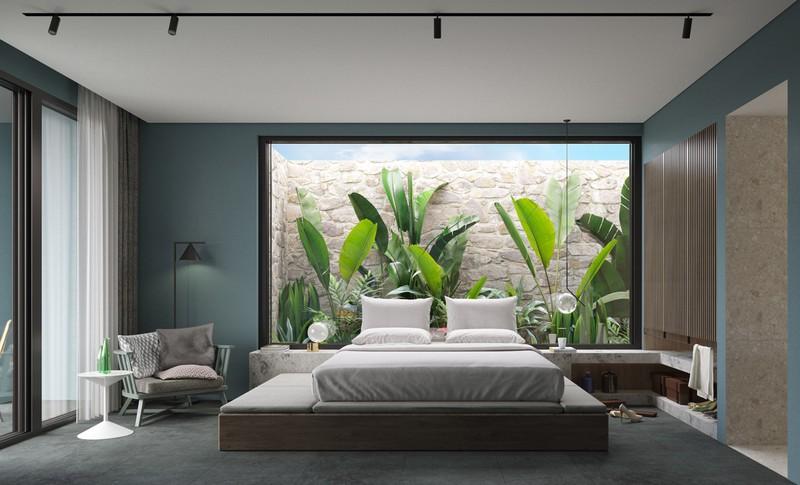 Trang trí phòng khách màu xanh căng tràn sức sống - Ảnh 13