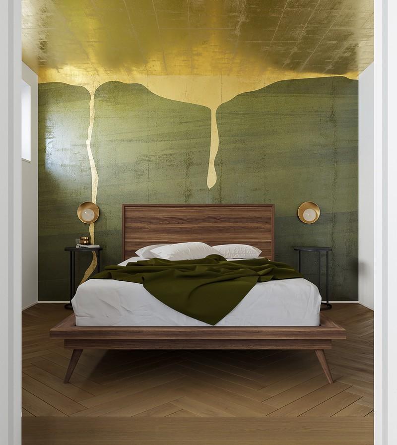 Trang trí phòng khách màu xanh căng tràn sức sống - Ảnh 14