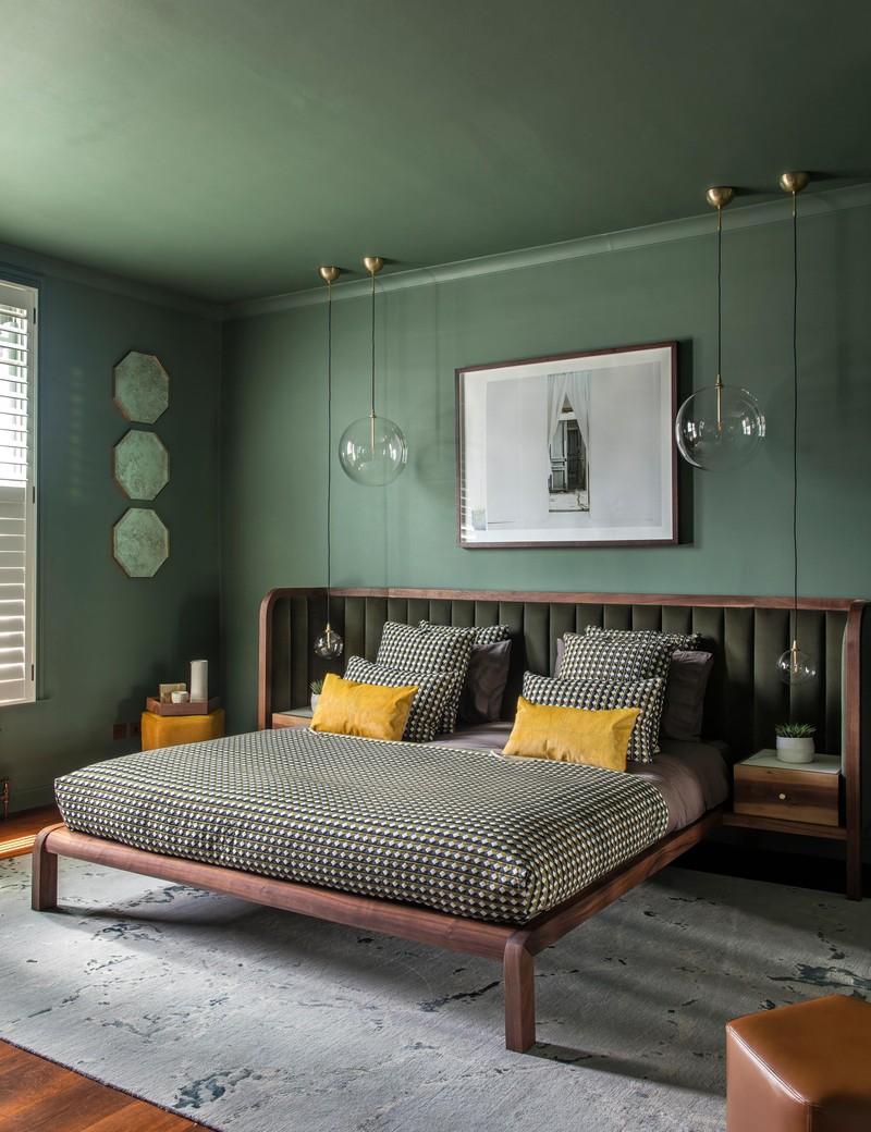 Trang trí phòng khách màu xanh căng tràn sức sống - Ảnh 1