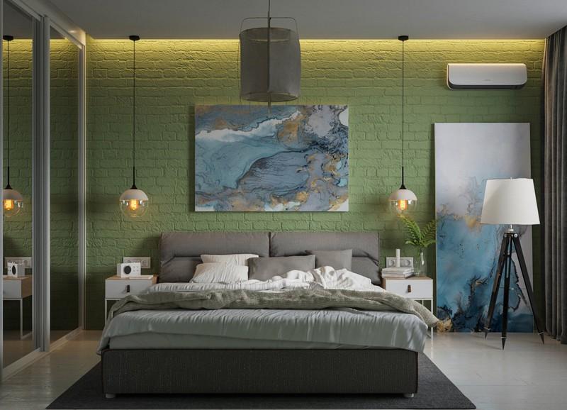 Trang trí phòng khách màu xanh căng tràn sức sống - Ảnh 4