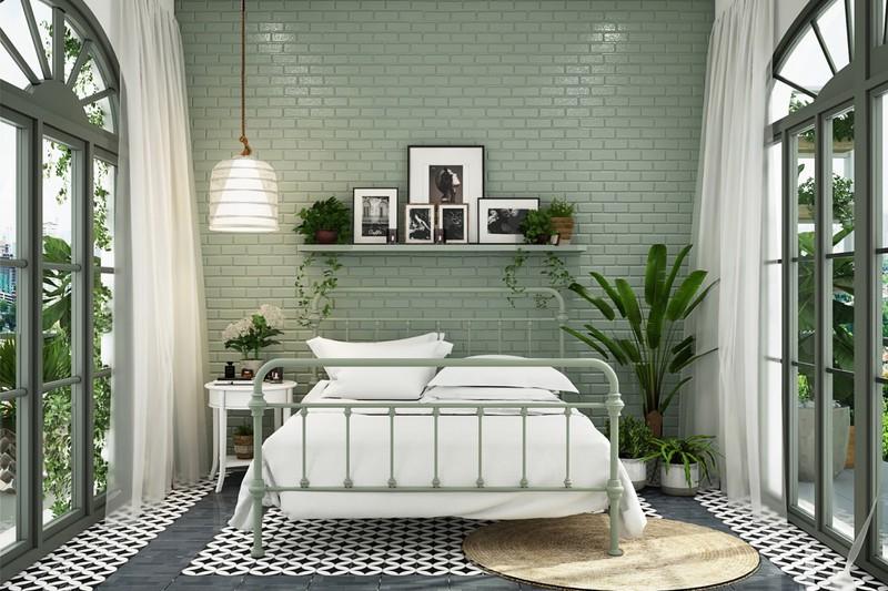 Trang trí phòng khách màu xanh căng tràn sức sống - Ảnh 5