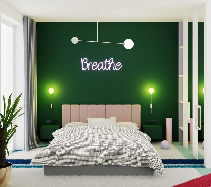 Trang trí phòng khách màu xanh căng tràn sức sống - Ảnh 7
