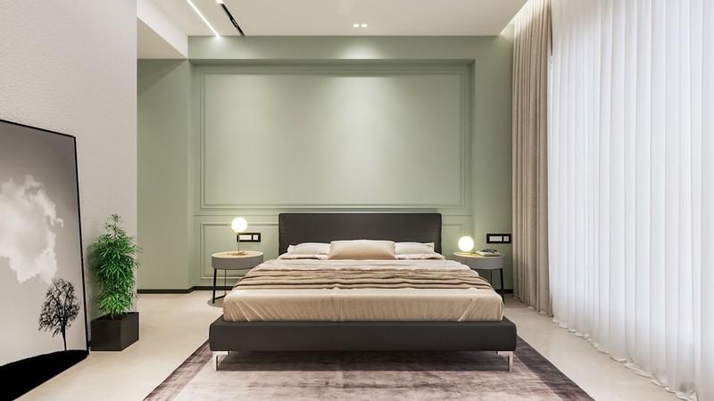 Trang trí phòng khách màu xanh căng tràn sức sống - Ảnh 8