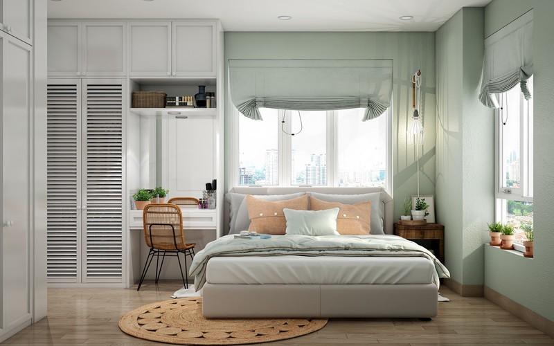 Trang trí phòng khách màu xanh căng tràn sức sống - Ảnh 9