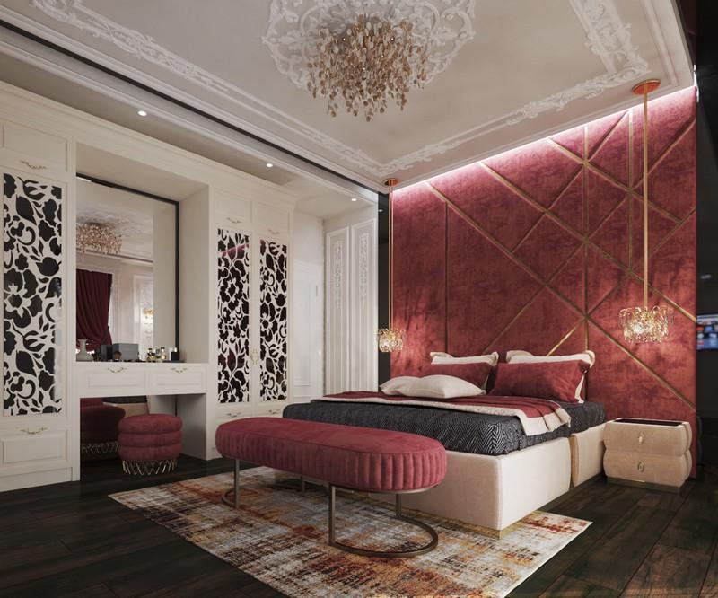 Trang trí phòng ngủ màu đỏ dành cho người năng động - Ảnh 3