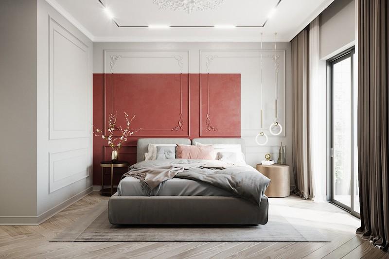 Trang trí phòng ngủ màu đỏ dành cho người năng động - Ảnh 1
