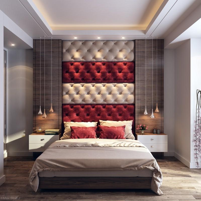 Trang trí phòng ngủ màu đỏ dành cho người năng động - Ảnh 4
