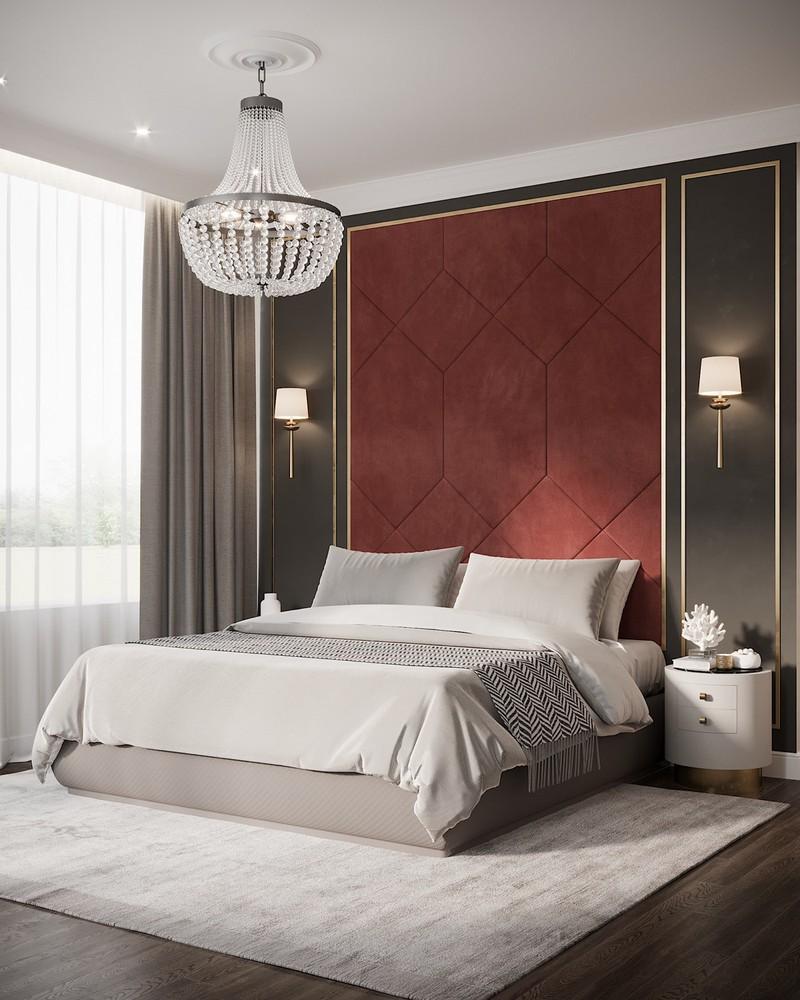 Trang trí phòng ngủ màu đỏ dành cho người năng động - Ảnh 5