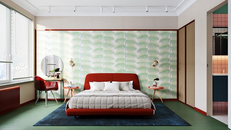 Trang trí phòng ngủ màu đỏ dành cho người năng động - Ảnh 9